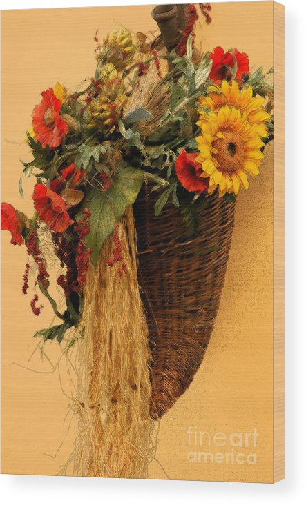 Floral Wood Print featuring the photograph Floral Horn Of Plenty by Mike Nellums