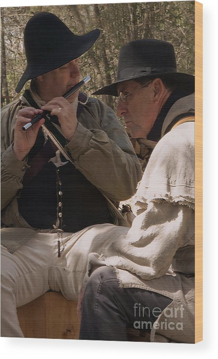 Reenactments Wood Print featuring the photograph Flute Melody by Kim Henderson