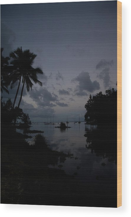 Hawaii Wood Print featuring the photograph Hilo Harbor Sunset by Tony and Kristi Middleton