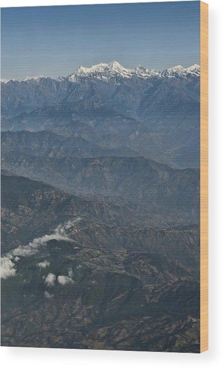 Nepal Himalaya Mts Wood Print featuring the photograph Himalaya Mountains Of Nepal by Nichon Thorstrom