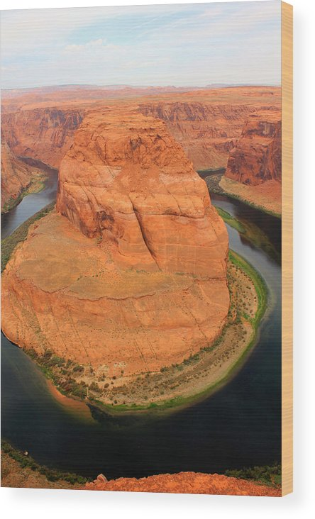 Canyon Wood Print featuring the photograph Horseshoe Canyon by Tim Lin