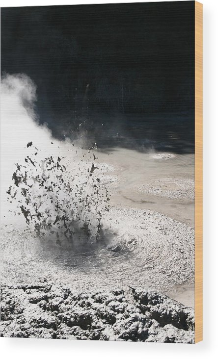 Angry Wood Print featuring the photograph Hot Mud by Isabel Poulin