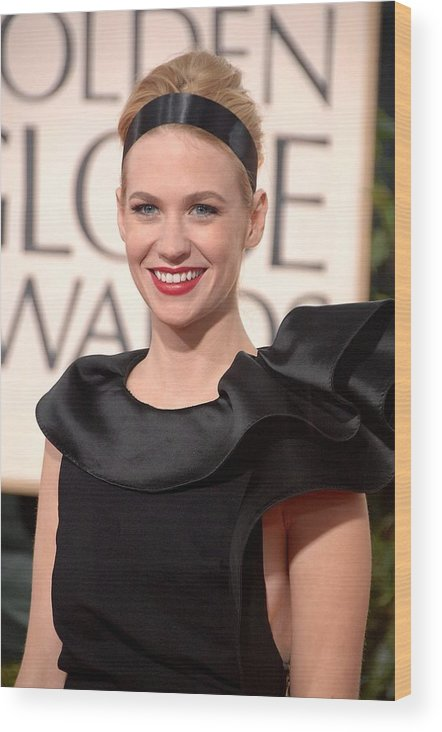 January Jones Wood Print featuring the photograph January Jones At Arrivals For The 67th by Everett