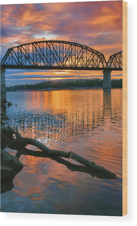 Sunrise Wood Print featuring the photograph Kentuckiana Sunrise by Steven Ainsworth