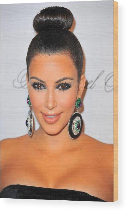 Kim Kardashian Wood Print featuring the photograph Kim Kardashian At Arrivals For The by Everett