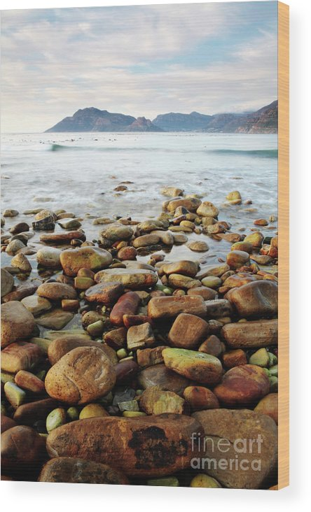 Landscape Wood Print featuring the photograph Kommetjie Beach by Neil Overy