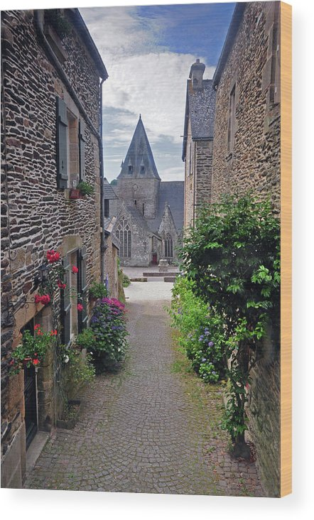 Church Wood Print featuring the photograph Leading To The Church Provence France by Dave Mills