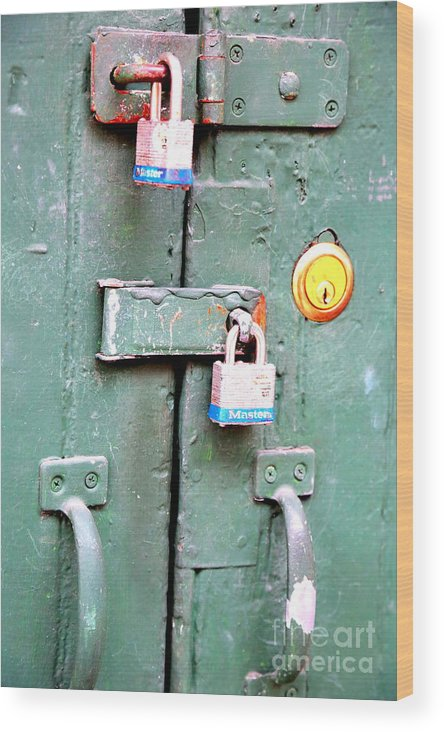 New Orleans Wood Print featuring the photograph Locked Tight by Carol Groenen