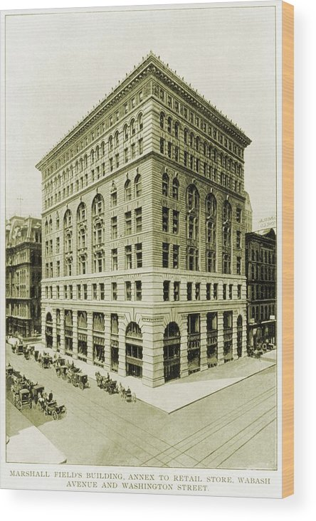 History Wood Print featuring the photograph Marshall Field And Company, Retail by Everett