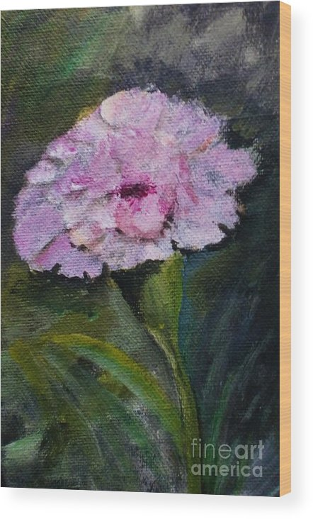 Flower Wood Print featuring the painting Morning Surprise by Trilby Cole