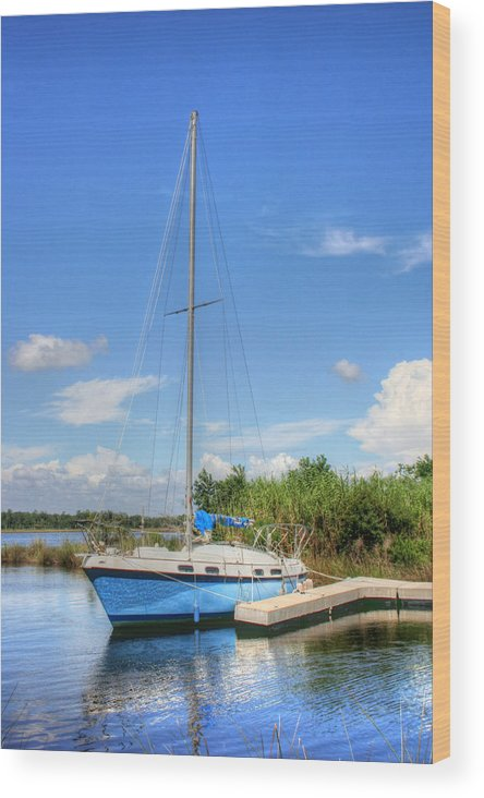 Sailboat Wood Print featuring the photograph Ready To Sail by Barry Jones