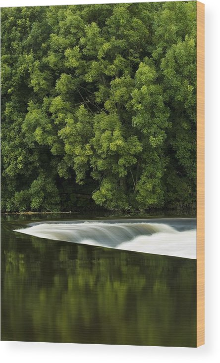 Blur Wood Print featuring the photograph River Boyne, County Meath, Ireland by Peter McCabe