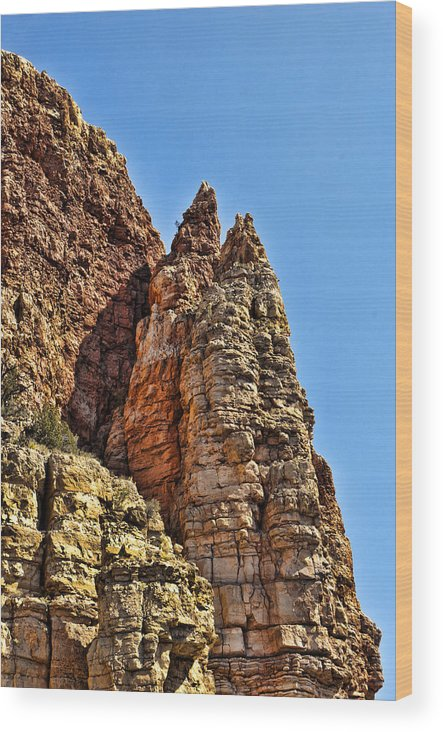 Cliff Wood Print featuring the photograph Rocky Cliff by Jon Berghoff
