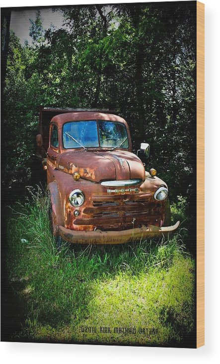 Rusted Wood Print featuring the digital art Second Vintage Dodge Truck by Kirk Gatzka