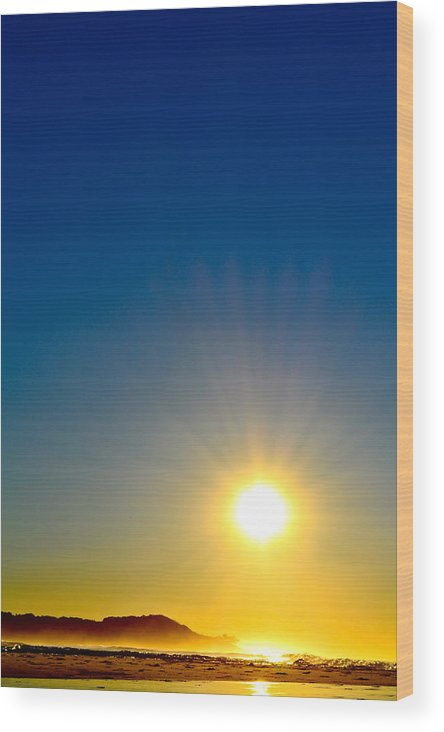 Sunset Wood Print featuring the photograph Silent Wish by Naturae Sua