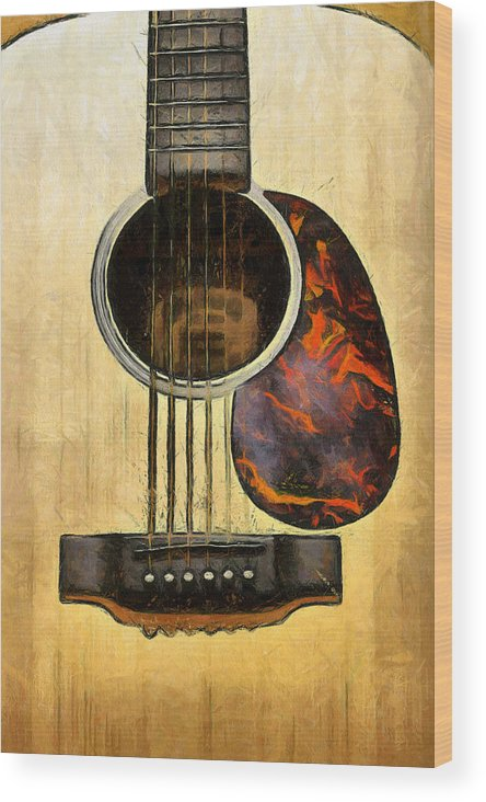 Guitar Wood Print featuring the photograph Six-string Acoustic Vi by Brian Davis