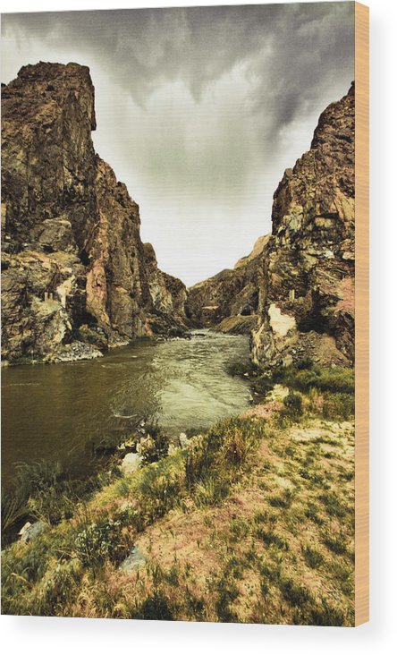 Wyoming Wood Print featuring the photograph Storm On The Wind River by Justin and Ambyr Henderson