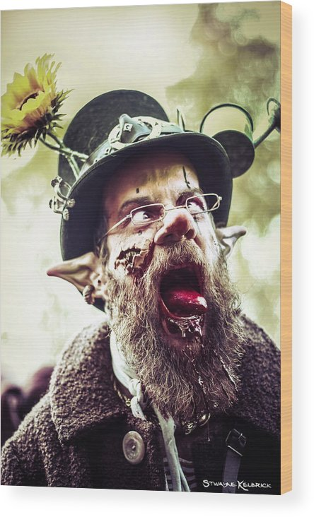 Goblin Wood Print featuring the photograph The Fool Goblin by Stwayne Keubrick