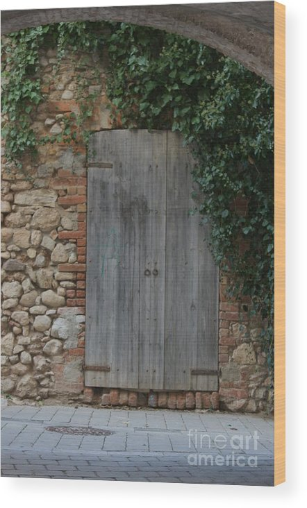 Entrance To Home. Wood Print featuring the photograph The Old Door by Dennis Curry
