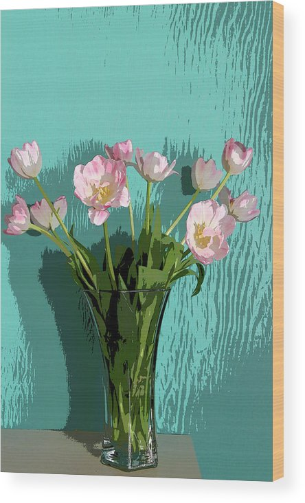 Floral Wood Print featuring the photograph Tulips by Joanne Riske