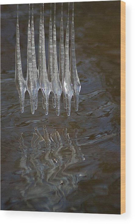 Ice Wood Print featuring the photograph Waves by Joseph Yarbrough