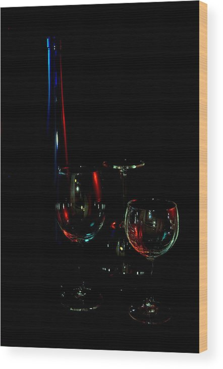 Wine Wood Print featuring the photograph Wine by Dan Gazit