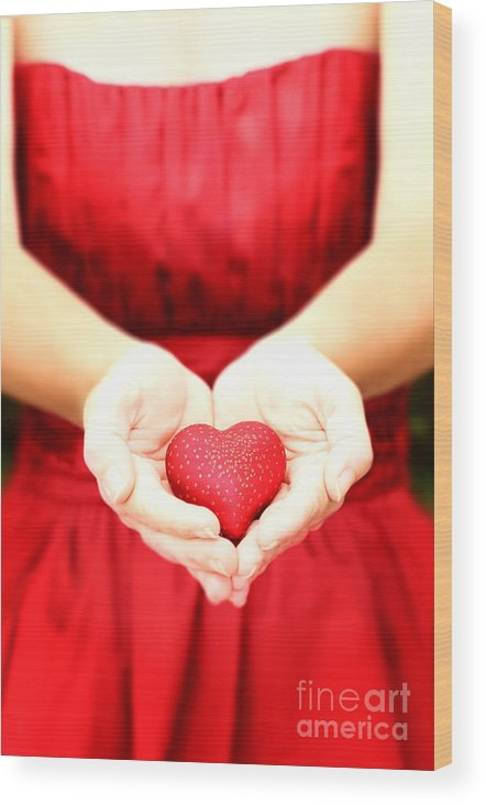 Alone Wood Print featuring the photograph The Heart by Stephanie Frey