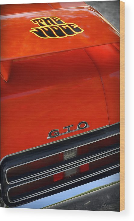 1967 Wood Print featuring the photograph 1969 Pontiac Gto The Judge by Gordon Dean II