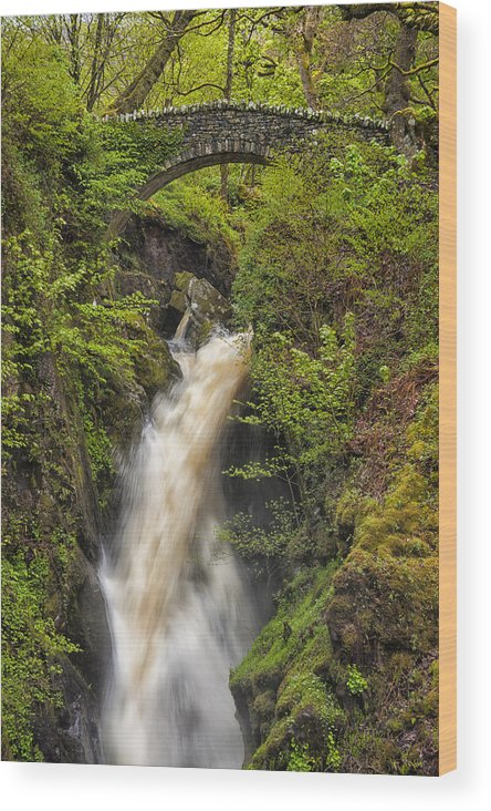 Aira Force Wood Print featuring the photograph Aira Force by Paul Cullen