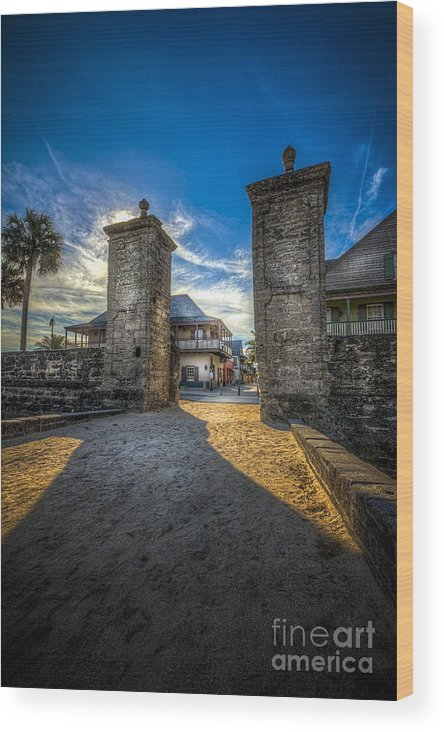 Fort Wood Print featuring the photograph Gate To The City 2 by Marvin Spates
