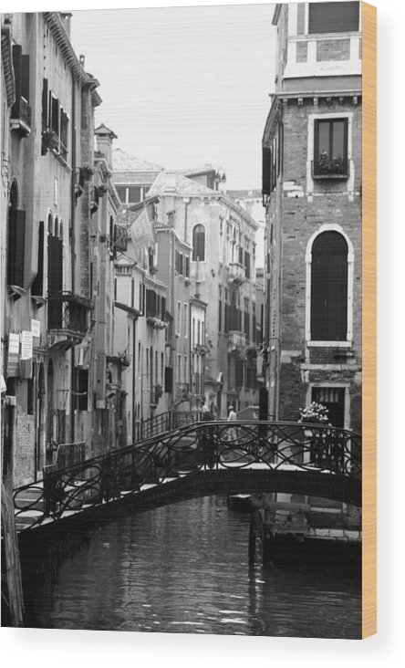 Venice Wood Print featuring the photograph Gondola Ride In Venice by Greg Sharpe
