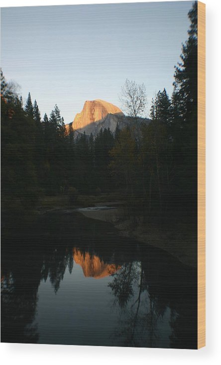 Half Dome Wood Print featuring the photograph Half Dome Sunset by Travis Day