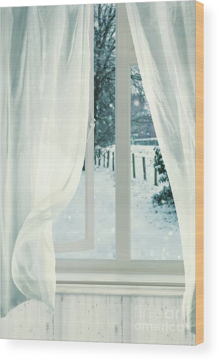 Open Wood Print featuring the photograph Open Window by Amanda Elwell