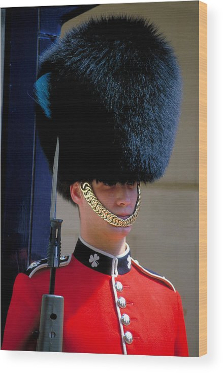 Fur Hat Wood Print featuring the photograph Royal Guard by Carl Purcell