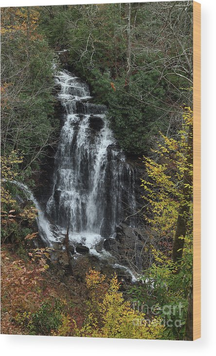 Nature Wood Print featuring the photograph Soco Falls by Rick Mann