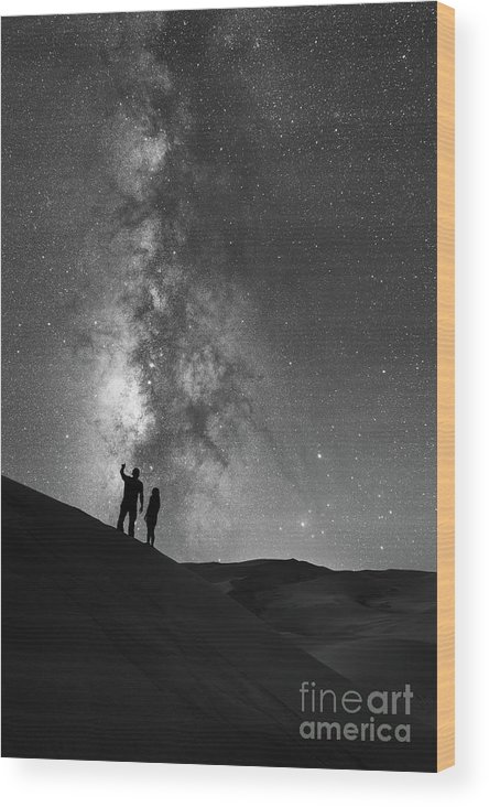 Star Crossed Lovers Wood Print featuring the photograph Stargazers by Michael Ver Sprill