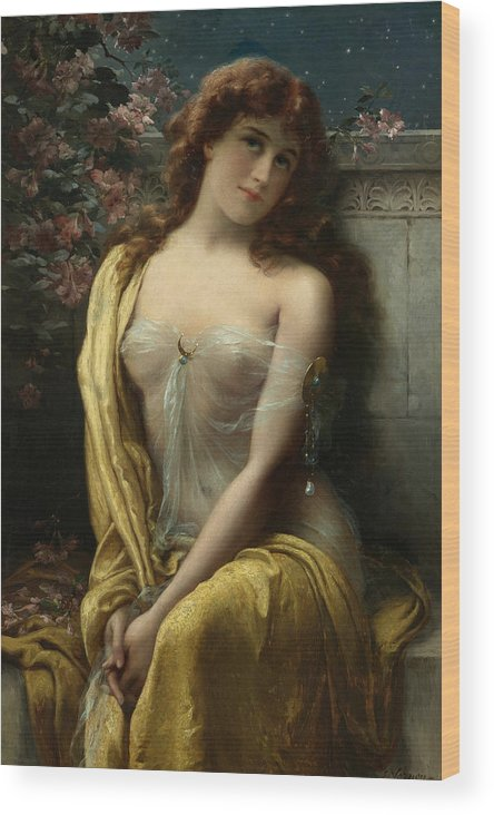 Emile Vernon Wood Print featuring the painting Starlight by Emile Vernon