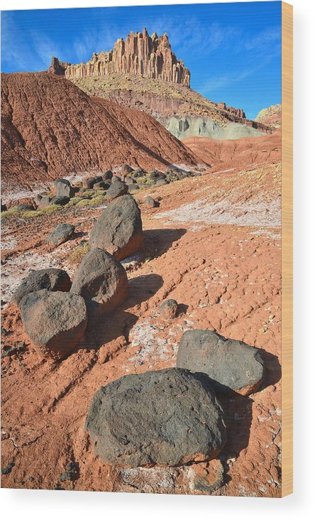Capitol Reef National Park Wood Print featuring the photograph The Castle by Ray Mathis