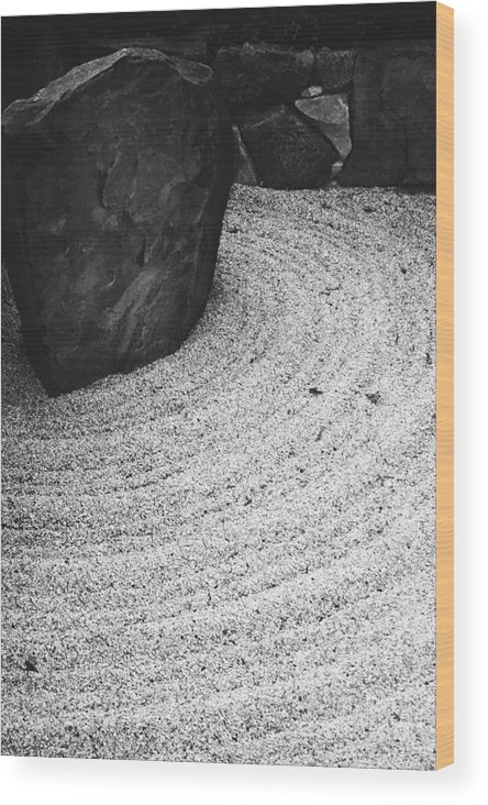 Wood Print featuring the photograph Zen Circle by Jamie Lynn