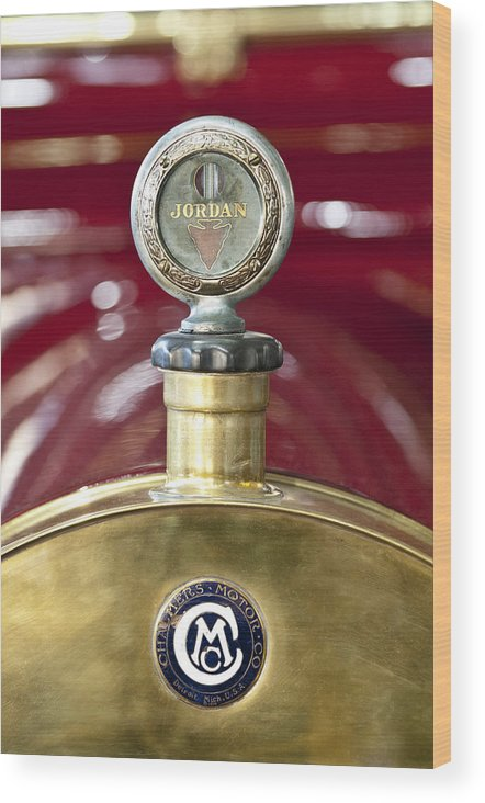 Jordan Motor Car Wood Print featuring the photograph 1913 Chalmers Model 18 Jordan Motometer by Jill Reger