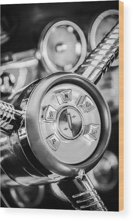 1958 Edsel Ranger Wood Print featuring the photograph 1958 Edsel Ranger Push Button Transmission 2 by Jill Reger
