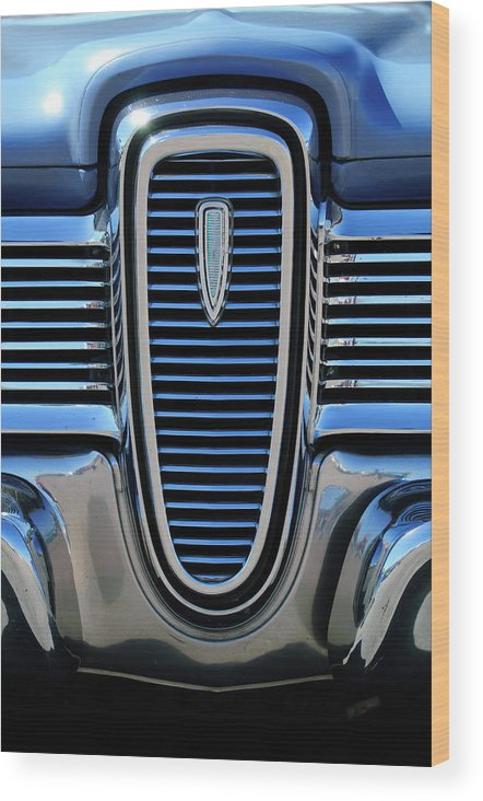 1959 Edsel Villager Wood Print featuring the photograph 1959 Edsel Villager Grille by Jill Reger