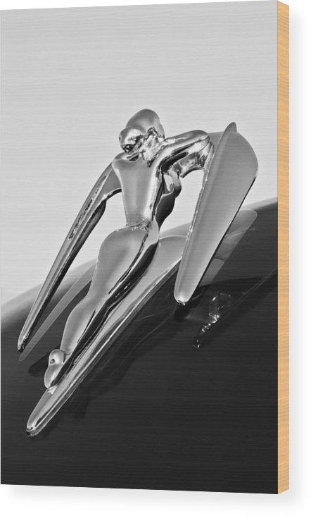 1960 Nash Metropolitan Wood Print featuring the photograph 1960 Nash Metropolitan -0854bw by Jill Reger