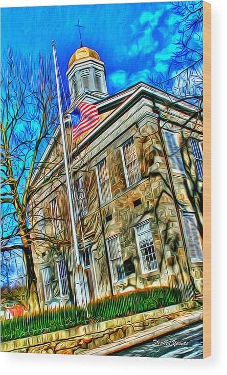 History Wood Print featuring the digital art Howard County Courthouse by Stephen Younts