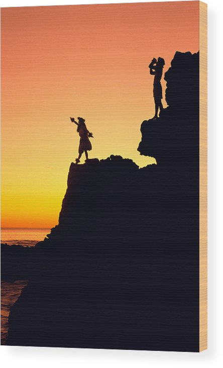 Aloha Wood Print featuring the photograph Hula Silhouette by William Waterfall - Printscapes
