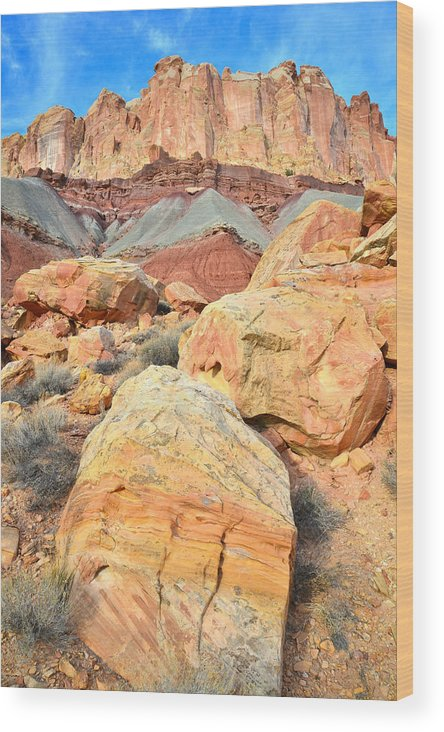 Capitol Reef National Park Wood Print featuring the photograph Capitol Reef Sunset by Ray Mathis