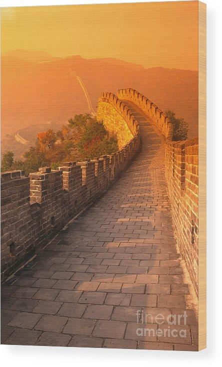 Asian Art Wood Print featuring the photograph China, Mu Tian Yu by Gloria & Richard Maschmeyer - Printscapes