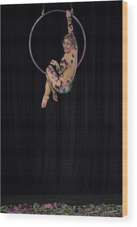 Circus Arts Wood Print featuring the photograph Untitled by Marek Jagoda
