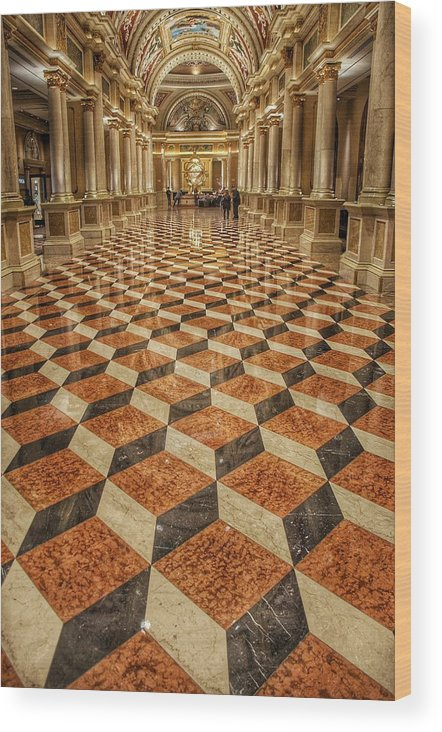 Venetian Wood Print featuring the photograph 3d Floor Art by Nikki Watson  McInnes