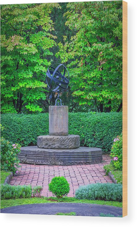University Circle Wood Print featuring the photograph 4387- Sculpture by David Lange